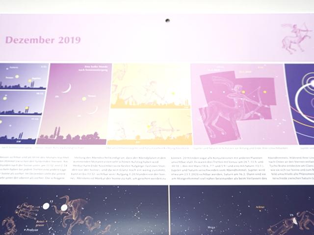星座のカレンダー2019年版10