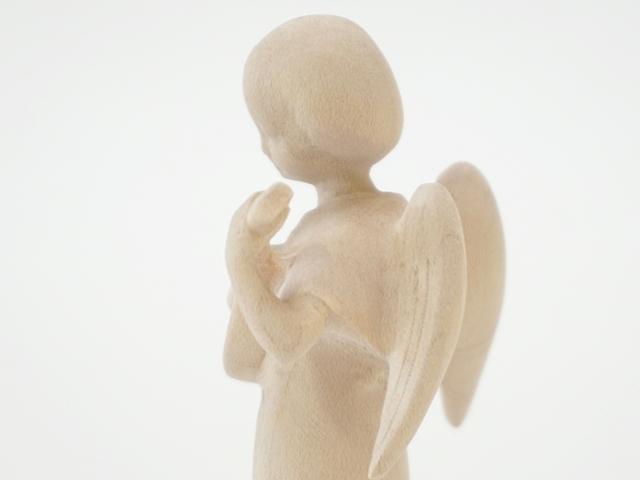 木の天使・リュート・側面上部