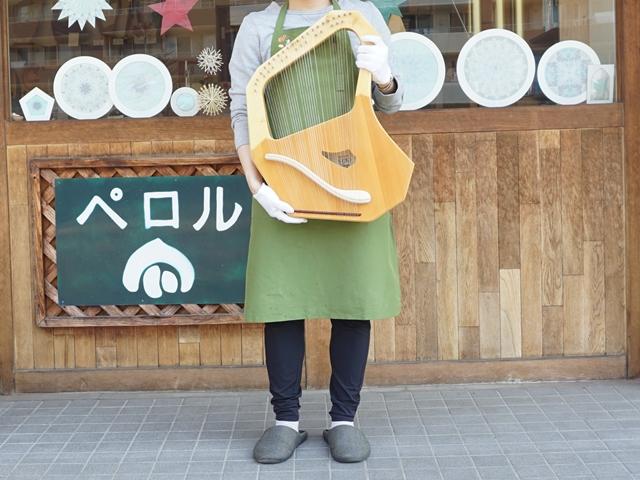 コロイ大型ソプラノ35弦-ライア本体サイズ感