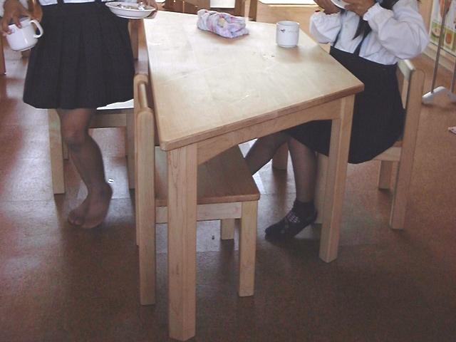 幼児用椅子・使用風景