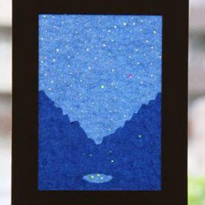 トランスパレント絵 星と蛍