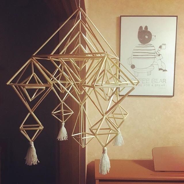 お客様の作品ご紹介⑨「空間をあたたかな雰囲気に変えるヒンメリ作品」