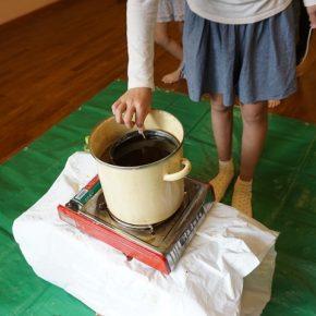 ミツロウチップを使ってミツロウロウソク作り