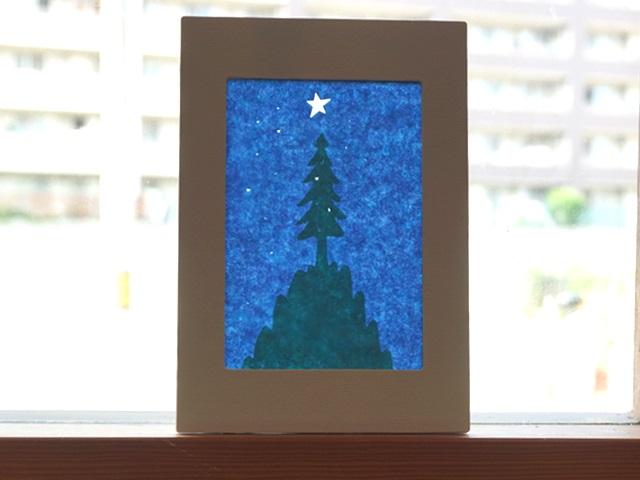 ローズウィンドウ手作りキット「クリスマスツリー・モミの木」の作り方