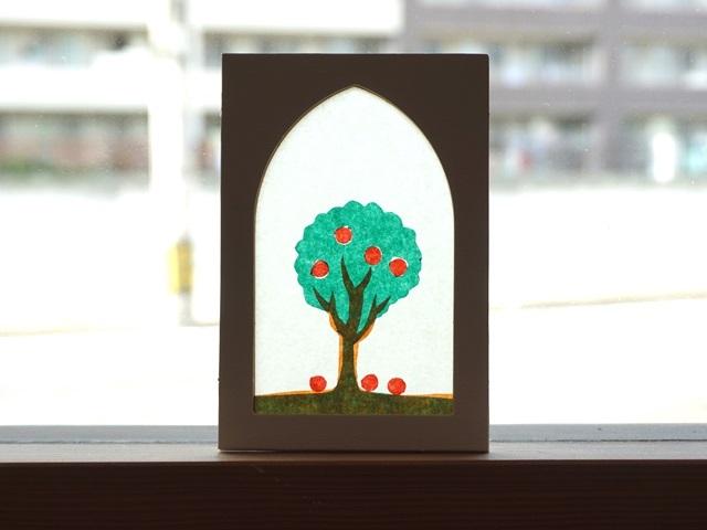 ローズウィンドウ手作りキット「リンゴの樹」の作り方