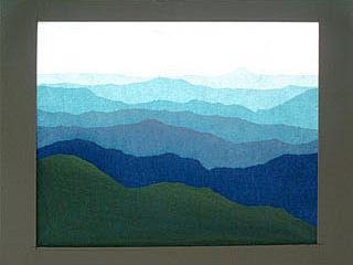 ローズウィンドウ手作りキット「山の連なり」の作り方