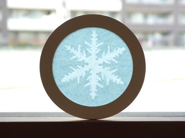 ローズウィンドウ手作りキット「雪の結晶」の作り方