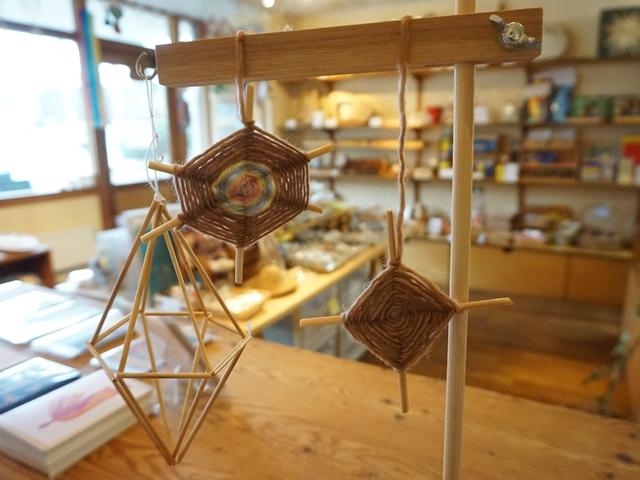 くもの巣編み(クロスウィービング)作り